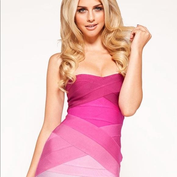 c32588b9adfc Herve Leger Dresses   Skirts - Authentic Herve leger pink ombré dress mini  small